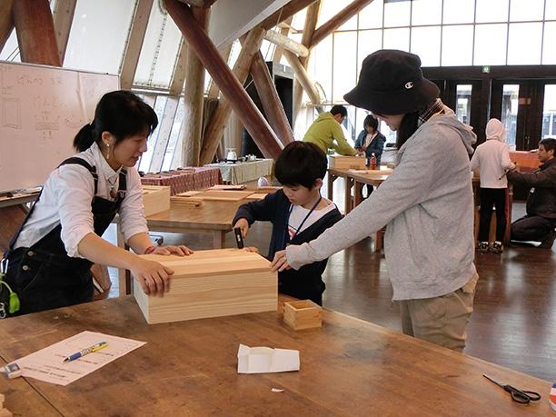 木工や木育の教室を企画・運営し、森と人をつなぐ